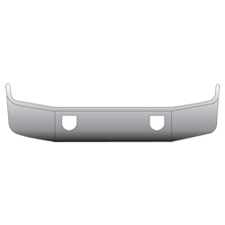 14 Inch Chrome Wrap Around Bumper With Tow Holes Fits Mack CH613 SBA