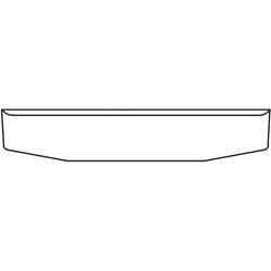 22 To 18 Inch Chrome Blind Mount Standard Rolled Tapered End Bumper W/ UST Mount