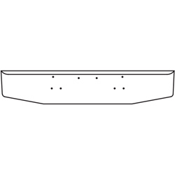 16 Inch Stainless Steel Standard Rolled End Bumper Fits Peterbilt 357 SFA, 378 SFA, 379