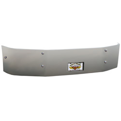 18 Inch Chrome Wrap Around Bumper With Recessed Tag Fits Peterbilt 386 & 384