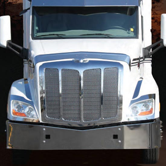 Valley Chrome Bumpers : Valley chrome bumper for peterbilt models tow holes