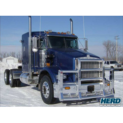 Herd Super Road Train Grille Guard fits Kenworth T800
