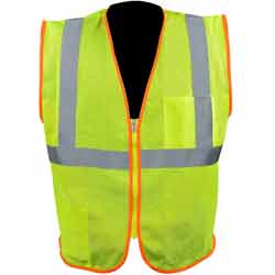 High Visibility Class 2 Safety Vest With Zipper