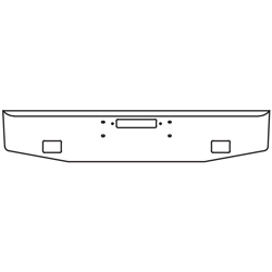 16 Inch Stainless Steel Standard Bumper W/ Tow, Fog Light Holes Fits Western Star Constellation