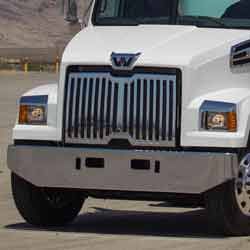 Chrome 16 Inch Tapered Rolled End Style Bumper Fits Western Star 4700SF
