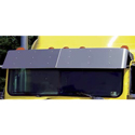 13.5 Inch Stainless Steel Drop Visor Fits International 9200-9400 Two Piece Windshields