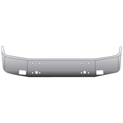 14 Inch Chrome Wrap Around Bumper Fits International 9400