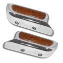Rockwood Chrome Arm Rest With Wood Insert - Kenworth 2000-2005