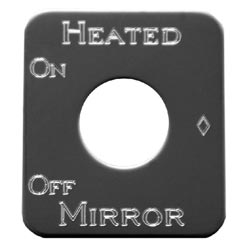 Rockwood Stainless Steel Heated Mirror Switch ID Plate