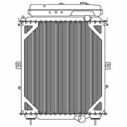 High Performance Radiator With Surge Tank 40 X 28.5 Inch Fits Kenworth T800
