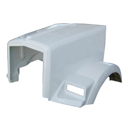 Fiberglass Hood Fits Kenworth T800 With Curved Windshield