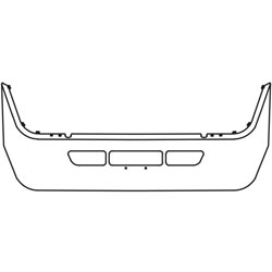 13 Inch Chrome Wrap Around Bumper With Tow Holes Fits Volvo VT830 & VT880 SBA