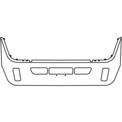 13 Inch Chrome Wrap Around Bumper With Tow & Factory Style Fog Light Holes Fits Volvo VT830 & VT880 SBA