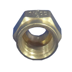 Brass 1/4 Inch Comp Nut
