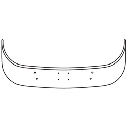 12 Inch Chrome Wrap Around Bumper With Bolt Holes Fits Sterling LT9513 & LT9500 SBA