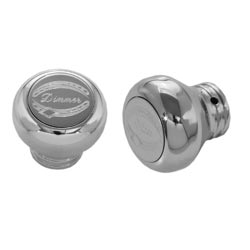 Rockwood Chrome-Plated Aluminum Dimmer & Wiper Knob Set