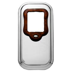 Rockwood Chrome Shift Tower Cover with Rosewood Collar