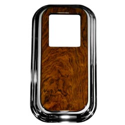Rockwood Chrome Shift Tower Cover w/ Full Rosewood Top