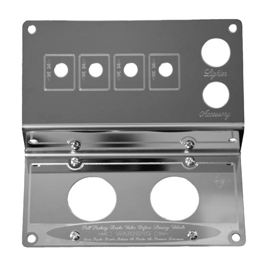 Semi Truck Control Panel : Rockwood stainless steel control panel for peterbilt