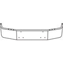 12 Inch Chrome Wrap Around Bumper Fits Peterbilt 385 1995-2007
