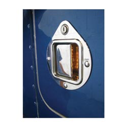 Chrome Door Handle Cover With LEDs Fits Peterbilt