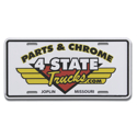 4 State Trucks Logo Embossed License Plate