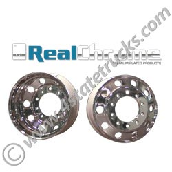 Chromed Aluminum Wheel 24.5in Hub Pilot - Steer or Drive