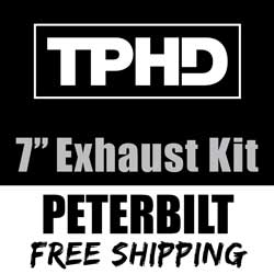 TPHD 7-5 Inch Exhaust Kit With Long Drop Elbows & 5 Inch Y-Pipe Fits Peterbilt 378, 379 & 389 Glider