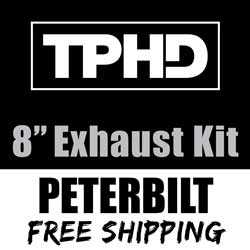 TPHD 8-5 Inch Exhaust Kit With Long Drop Elbows & 5 Inch Y-Pipe Fits Peterbilt 378, 379 & 389 Glider