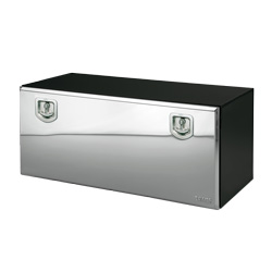 Bawer 30 X 18 X 18 Inch Black Steel Tool Box With Stainless Lid
