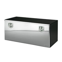 Bawer 48 X 18 X 18 Inch Black Steel Tool Box With Stainless Lid