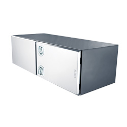 Bawer Stainless Steel Toolbox 48in x 24in x 24in with Double Door