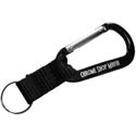 Chrome Shop Mafia Engraved Black Carabiner Keychain