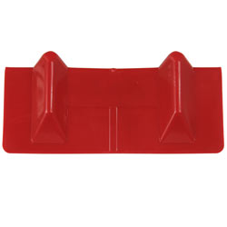 4.25 X 10.5 Inch Red Plastic Corner Protector