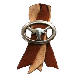 Brown & Tan Extended Length Air Horn Pull With Longhorn