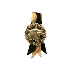Black & Tan Extended Length Air Horn Pull With Eagle Head