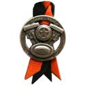 Black & Orange Extended Length Air Horn Pull With Twin V