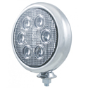 5 Inch 6 Diode LED Chrome Work Light With 750 Lumens & Clear Lens