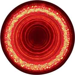 4 Inch Mirage Round Red LED Stop, Tail & Turn Signal Light With 24 Diodes & Clear Lens