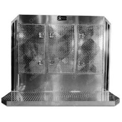 Aluminum Cab Guard w/ 3 Door Storage