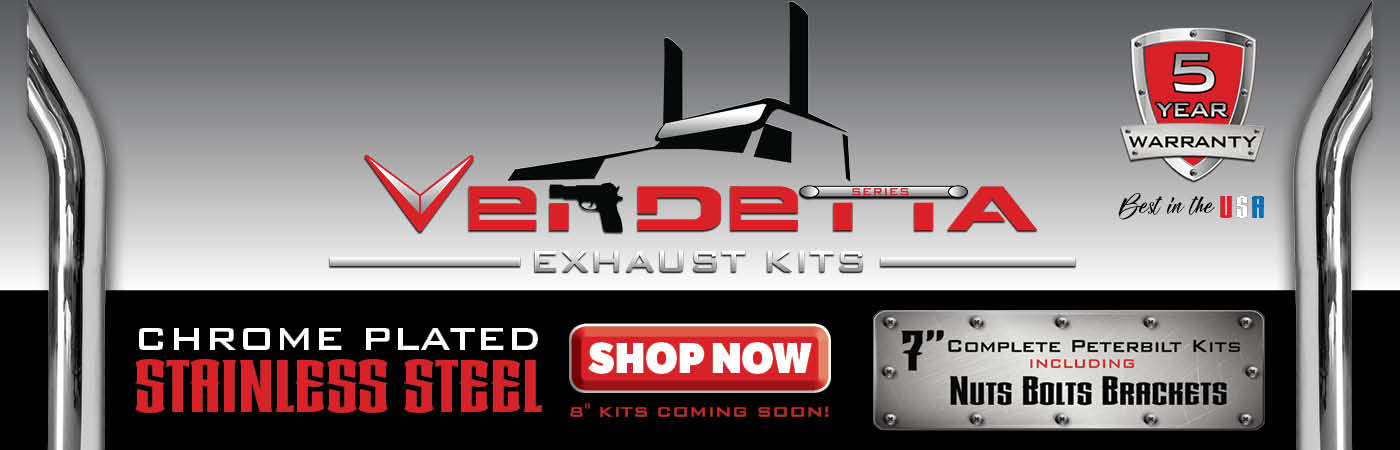 New Vendetta Exhaust Kits with 5 Year Warranty!
