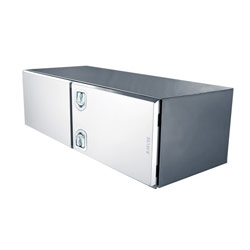 Bawer 24 X 24 Inch Stainless Steel Tool Box With Double Doors, 2 Handles