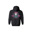 Diesel Life Ladies Black & Pink Hoodie Size Large