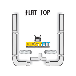 BestFit Exhaust Kit - Flat Top 8x108 Inch With Pickett Elbows