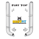 Best Fit Exhaust Kit - 8in Stacks - Pete Elbow