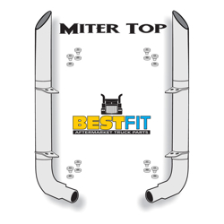 BestFit Exhaust Kit - Miter Top 8 Inch x 108 Inch With Pickett Elbows