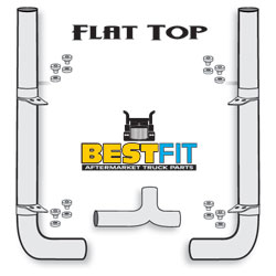 BestFit Exhaust Kit - Flat Top 7 Inch x 114 Inch With Pickett Elbows