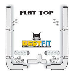 BestFit Exhaust Kit - Flat Top 6 Inch x 108 Inch Pickett Elbows