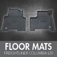floor accessories for freightliner columbia 120 - 4 state trucks