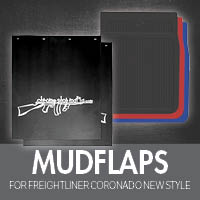 Mudflaps for Freightliner Coronado New Style